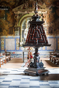 Wooden choir lectern, church of Santa Paula convent, Seville, Spain