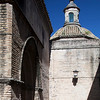 Side view of Santa Marina church (13th century), Seville, Spain