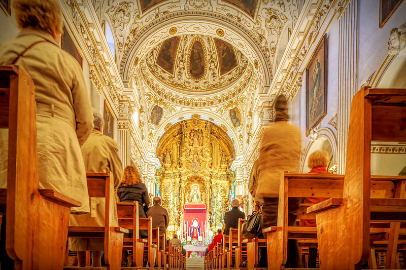 Celebration of a Catholic wedding, Santo Angel church, Seville, Spain