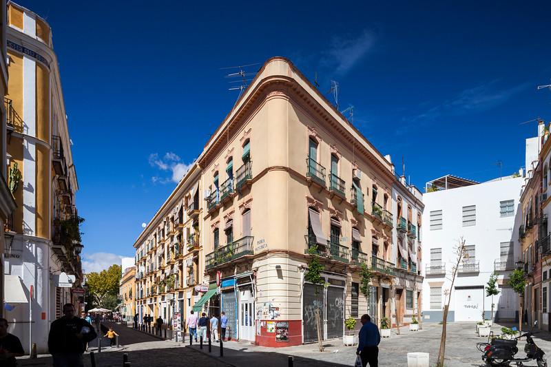 Peris Mencheta street, in the trendy Alameda de Hercules area, Seville, Spain