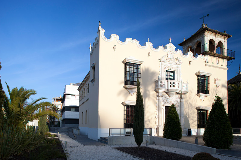 House for Urcola's Widow, built in 1935 in neobarroque style according to the design of the architect Romualdo Jimenez Caldes, Palm Tree Avenue, Seville, Spain.