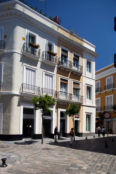 Typical houses in downtown Seville, Spain
