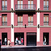 Facade in downtown, Seville, Spain