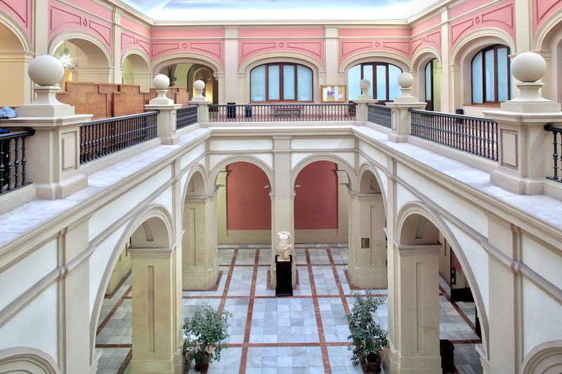 Courtyard, former Royal Tobacco Factory (now University), Seville, Spain