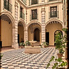 Courtyard, University of Seville (former Royal Tobacco Factory), Seville, Spain