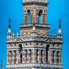 West and south sides of the Giralda tower, Seville, Spain. High resolution panorama.