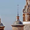Detail of the top of La Anunciacion church, Seville, Spain