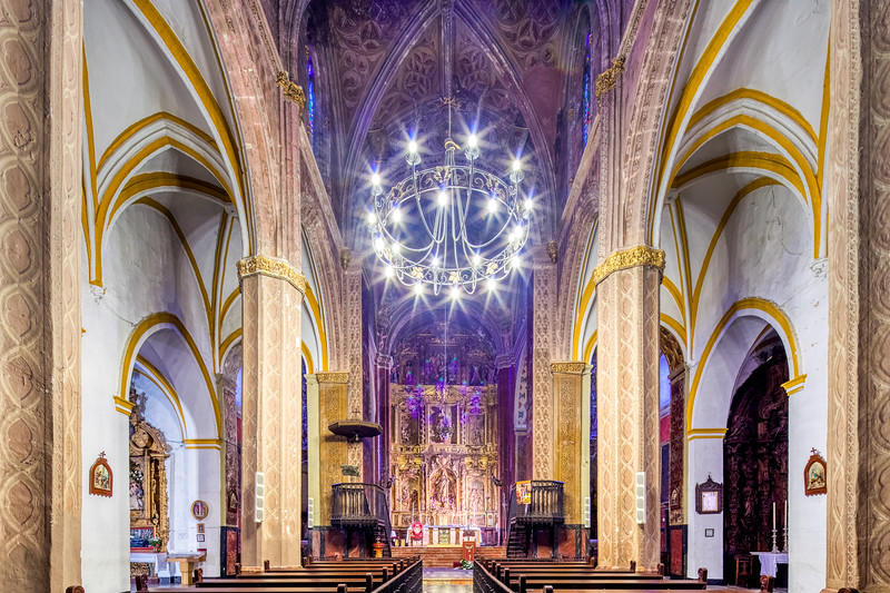 Interior of Santa Maria de la Mesa church, Utrera (Seville, Spain).