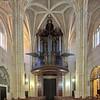 Interior of Santiago church, town of Utrera, province of Seville, Spain