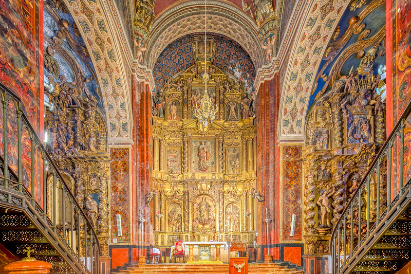 High altar of Santa Maria de la Mesa church, Utrera (Seville, Spain).