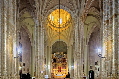 Interior of Santiago church, town of Utrera, province of Seville, Spain