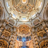 Ceiling of San Luis de los Franceses church, in Baroque style, Seville, Spain.