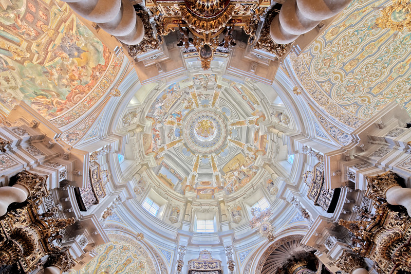 Dome of San Luis de los Franceses church (18th century), Seville, Spain
