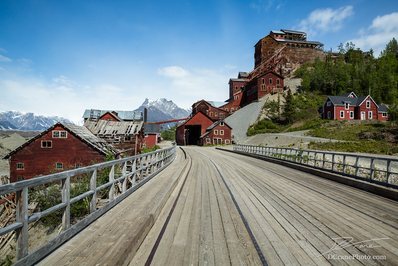 Ghost town of Kennicott, Alaska in the Wrangell-St. Elias National Park