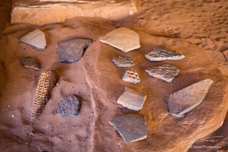 Collection of ancient Native Pueblo artifacts