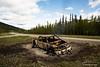 Truck on fire near AlCan Highway in the Yukon