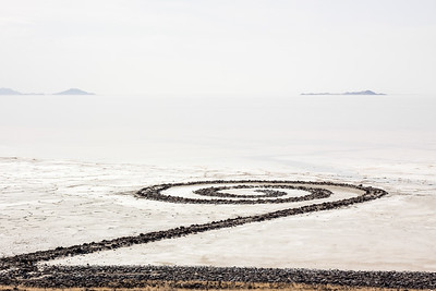 Cloudy day at the Spiral Jetty in Northern Utah