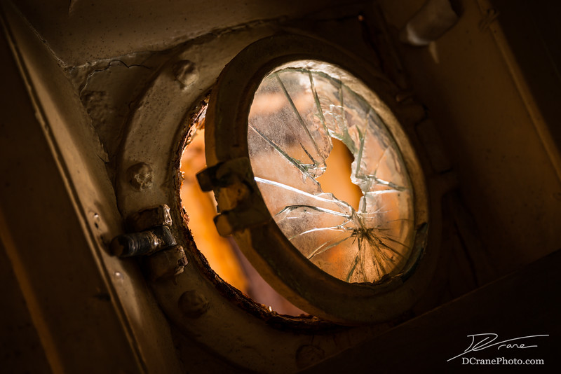 Broken Glass Porthole