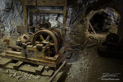 Old rusted equipments inside a mine