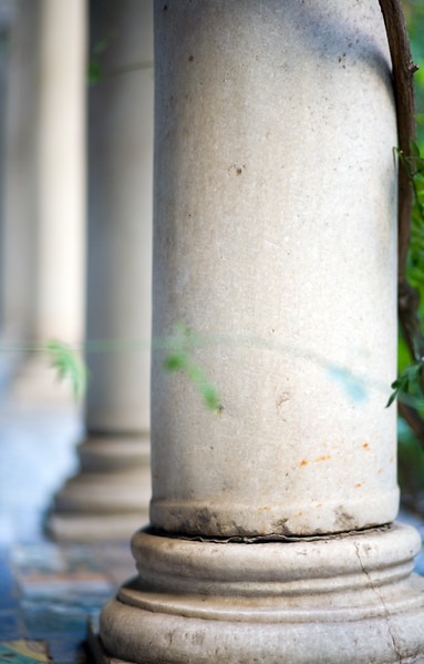 Columns, cloister of the Fine Arts Museum, Seville, Spain
