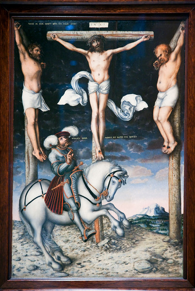 Calvary by Lucas Cranach (1538), Fine Arts Museum, Seville, Spain