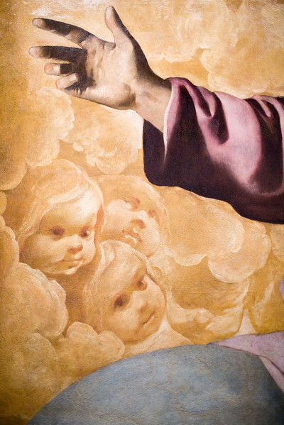 Detail from Eternal Father, painting by Francisco de Zurbaran (1634), Fine Arts Museum, Seville, Spain