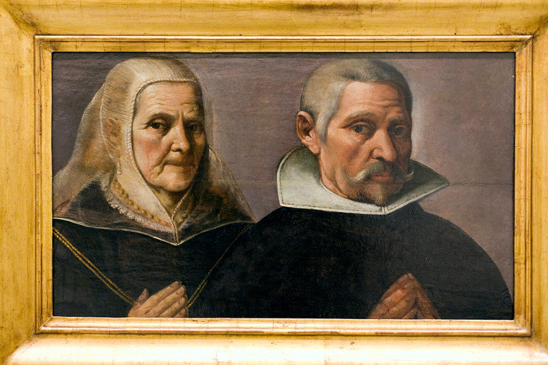 Old Lady and Gentleman praying, by Francisco Pacheco (circa 1630), Fine Arts Museum, Seville, Spain