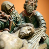 "Detail from ""Crying for the dead Christ"", sculpture by Pedro Millan (circa 1490), Fine Arts Museum, Seville, Spain"