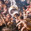 Angels and cherubs, detail from a Inmaculate Conception painting by Juan de Valdes Leal (1670), a baroque Sevillian artist,  Fine Arts Museum, Seville, Spain