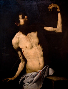 Saint Sebastian, painting by Jose de Ribera El Españoleto (17th century), Fine Arts Museum, Seville, Spain