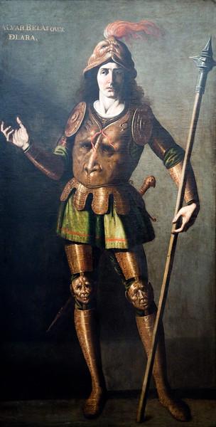 Alvar Velazquez de Lara, painting by Zurbaran and his workshop (1650), Fine Arts Museum, Seville, Spain
