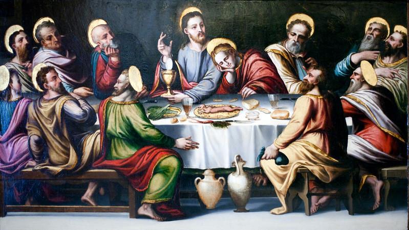 Last Supper, by anonymous Sevillian author (1570), Fine Arts Museum, Seville, Spain