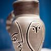 Ceramic vase by Pablo Picasso, temporary exhibition, Fine Arts Museum, Seville, Spain