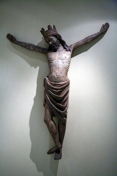 Crucified Christ by anonymous author (Castile, 14th century, Gothic style), Fine Arts Museum, Seville, Spain