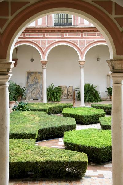 Yard, Fine Arts Museum, Seville, Spain