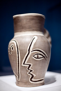 Ceramic vase by Pablo Picasso, temporary exhibition, Fine Arts Museum, Seville, Spain