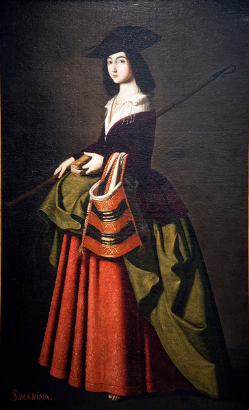 Saint Marina, painting by Francisco de Zurbaran and his workshop (1640), Fine Arts Museum, Seville, Spain
