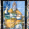 The Pope on old glazed ceramic tiles, Fine Arts Museum, Seville, Spain