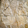 Assyrian soldiers marching, bas-relief from the king Sennacherib palace (8th-7th century BC), Pergamon Museum, Berlin, Germany