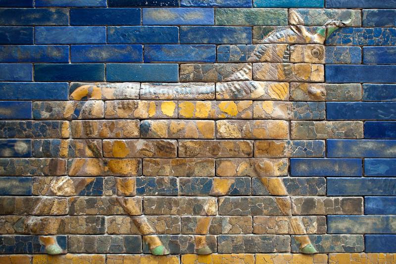 Bas-relief of an auroch, Ishtar Gate, Pergamon Museum, Berlin, Germany