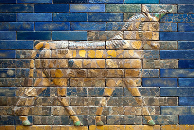 Bas-relief of an auroch, Ishtar Gate, Pergamon Museum, Berlin, Germany