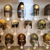 Greek helmets, Altes Museum, Berlin, Germany