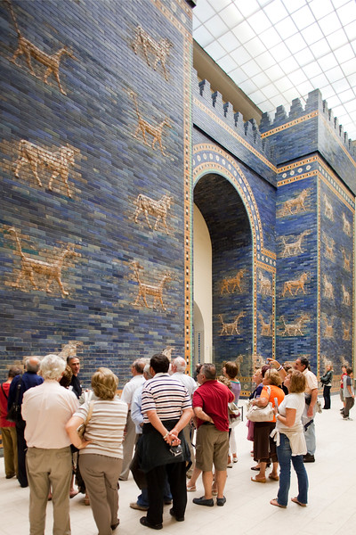 Ishtar Gate of the ancient city of Babylon, Pergamon Museum, Berlin, Germany