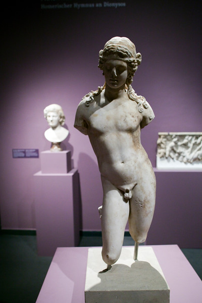 Youthful Dionysus, Roman marble (1st century BC), Pergamon Museum, Berlin, Germany