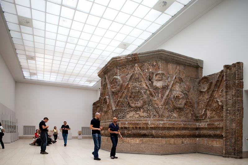 Ruins of the palace of Mshatta (Jordan, 8th century AD), Pergamon Museum, Berlin, Germany