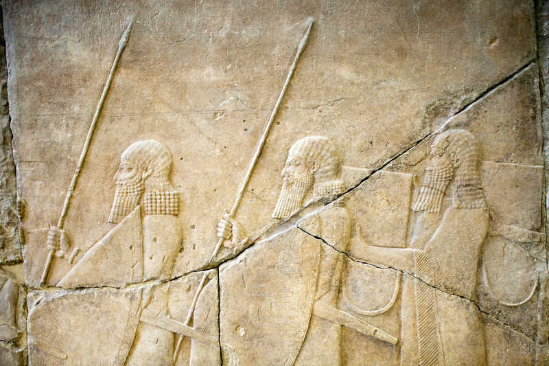 Assyrian relief, Pergamon Museum, Berlin, Germany