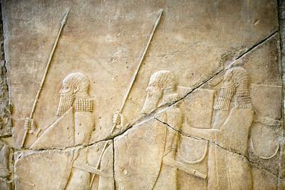 Assyrian relief, Pergamon Museum, Berlin, Germany