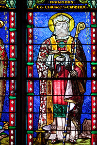 Stained glass window, Saint Pierre Cathedral, Vannes, department of Morbihan, region of Brittany, France