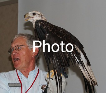Buddy The Eagle with Mr.Edward