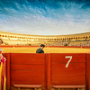Real Maestranza bullring during a bullfight, Seville, Spain